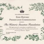 Historic Preservation Commendation